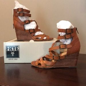 Frye Rain Strappy Wedge